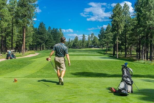 Golf pelaaja